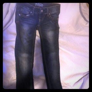Blue jeans low rise